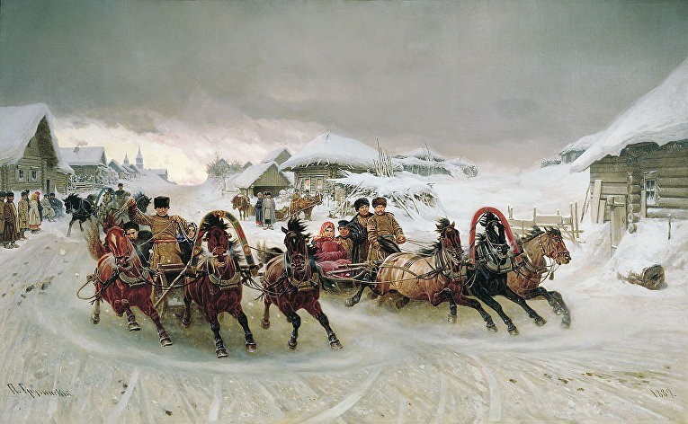 Пётр Грузинский. Масленица. 1889 год